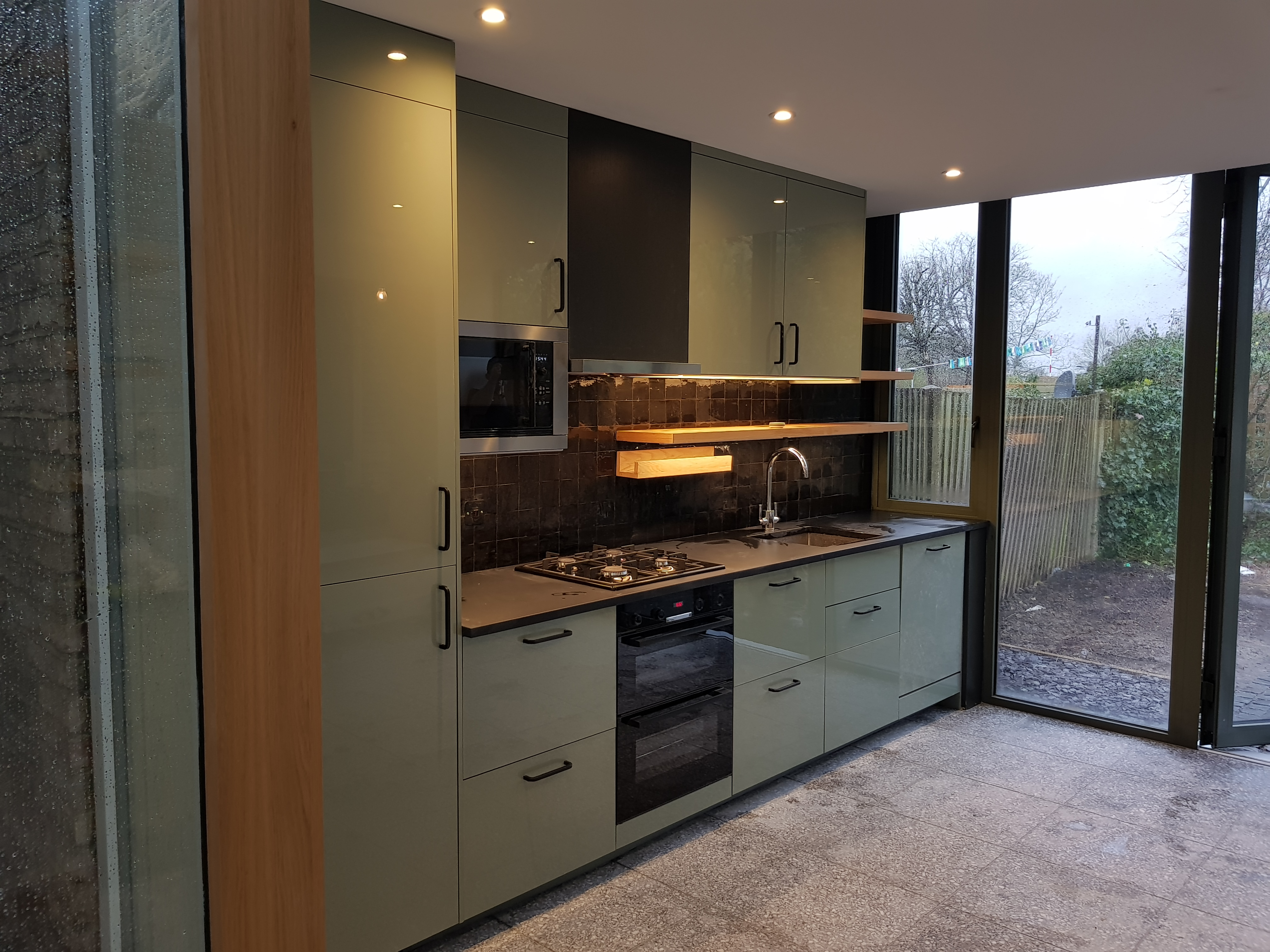 Minimal structure on show for this garden mad client